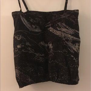 Unique silk Japanese print camisole